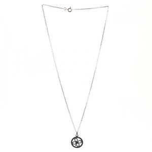 Chaumet Accroche Coeur Clover Pendant Necklace 18K White Gold and Diamonds