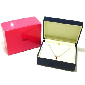 TASAKI Platinum Diamond Garnet Necklace