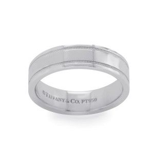Tiffany & Co. 950 Platinum Wedding Band Ring Size 9.75