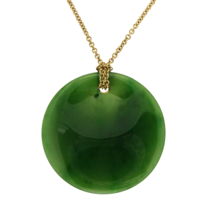 65e4448f9 Elsa Peretti 18K Yellow Gold & Round Jade Pendant Necklace | Tiffany & Co.  | Buy at TrueFacet