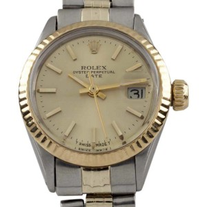 Rolex Oyster Perpetual Date 6517 Vintage 25mm Womens Watch