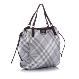 Mega Check Buckleigh Nylon Tote Bag