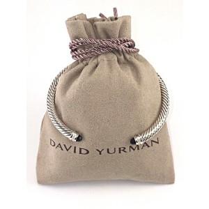 David Yurman Cable Classic Sterling Silver with Black Onyx & 0.07ct. Diamonds Bracelet