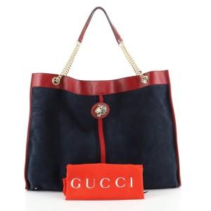 Gucci Rajah Chain Tote Suede XL