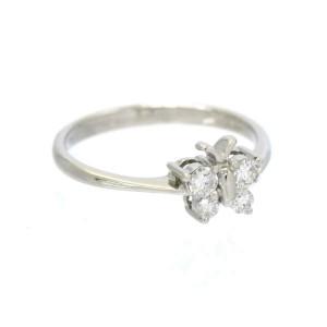 Diamond 18k white gold Butterfly Motif Ring