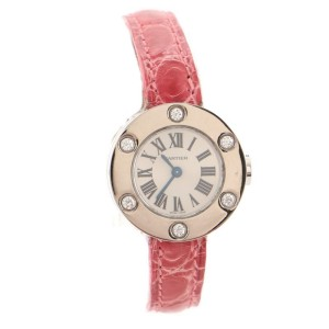 Cartier Love 6 Diamond Quartz Watch White Gold and Alligator 23