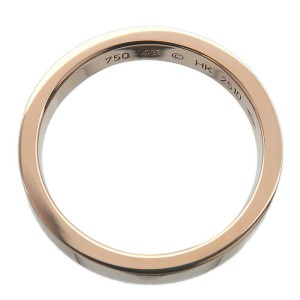 Cartier Engraved K18 Rose Gold Ring TNN-938