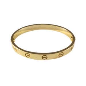fc6da813b162a Cartier Love 18K 750 Yellow Gold Bangle Bracelet Size 16