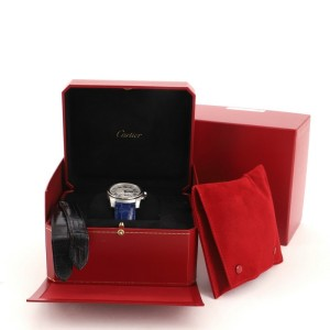 Cartier Calibre de Cartier Automatic Watch Stainless Steel and Alligator 38