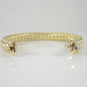 Roberto Coin 18K Yellow Gold Sapphire Woven Silk Bangle Bracelet