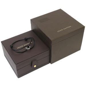 Louis Vuitton Empreinte Cotton Cord Bracelet in 18K White Gold