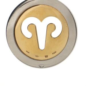 Bvlgari Zodiac Pendant Necklace 18K Yellow Gold and Steel