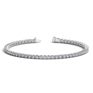 Round Diamond Tennis Bracelet in 14k White Gold (4 cttw)