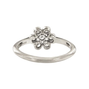 Tiffany & Co. Platinum with Diamond Flower Ring Size 6.5