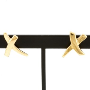 TIFFANY&Co. 18K yellow Gold Paloma Picasso kiss earring CHAT-408