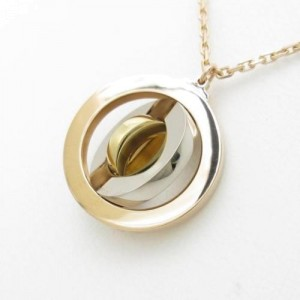 Cartier 18K Yellow, White and Rose Gold Limited Edition Christmas Necklace