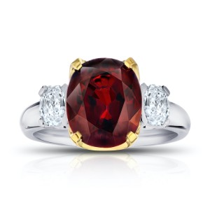 Platinum 18K Yellow Gold 5.19ct. Spinel 0.81ctw. Diamond Ring Size 7