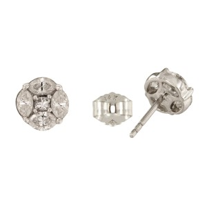 14K White Gold with 1.5ct Diamond Stud Earrings