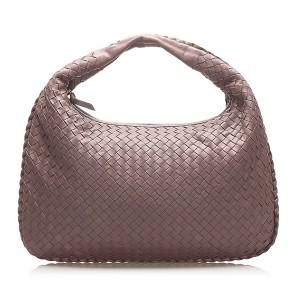Intrecciato Leather Hobo Bag