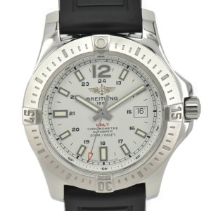 BREITLING Colt Automatic A17388 white Dial SS Automatic Men's Watch