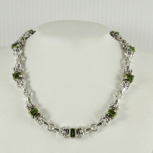 Lagos Sterling Silver 18K Yellow Gold Peridot Glacier Necklace