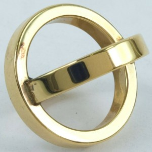 HERMES Gold Plated Cosmos Calfskin Ring