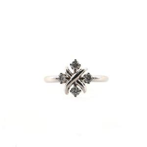Tiffany & Co. Schlumberger Lynn Ring Platinum and Diamonds .20CT 6 - 52