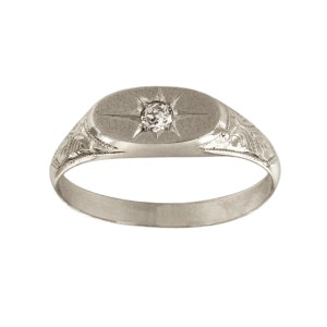 Platinum with 0.6ct Pinky Ring Size 7