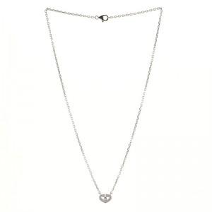 Cartier C Heart de Cartier Pendant Necklace 18K White Gold with Diamonds
