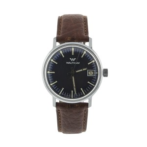 Waltham 1970 Date Blue Dial Steel Watch