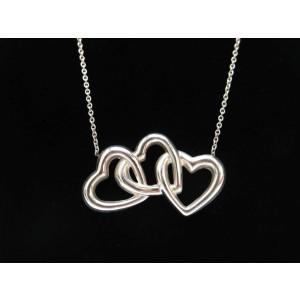 TIFFANY & Co. silver Triple Open Heart Necklace