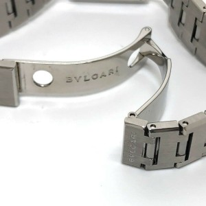 BVLGARI SQ22SS Stainlees Steel Square face Quadlard Watch
