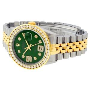 Rolex Datejust 16233 Green 6&9 Diamond 36mm Mens Watch