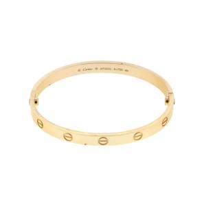 Cartier Yellow Gold Love Bracelet Size 18