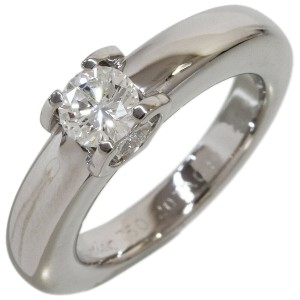 Cartier Solitaire Diamond Ring in 18K White Gold US4