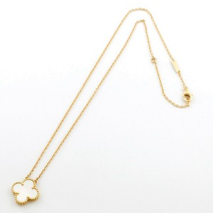Van Cleef & Arpels 18K yellow Gold Shell flower Necklace CHAT-748