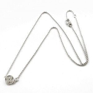 LOUIS VUITTON 18K white gold Diamond flour Pandan Necklace