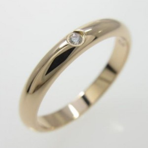 Cartier 18K Rose Gold Diamond Wedding Ring Size 3.25