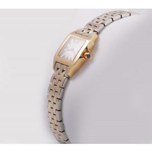 Cartier Santos Demoiselle 18K Yellow Gold & Stainless Steel 22mm Watch