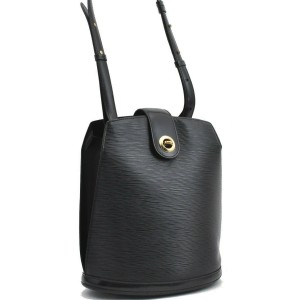 Louis Vuitton Epi Cluny Shoulder Bag Black M52252
