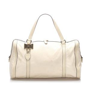 Leather Duchessa Boston Bag