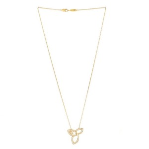 Harry Winston Lily Cluster Pendant Necklace 18K Yellow Gold with Diamonds