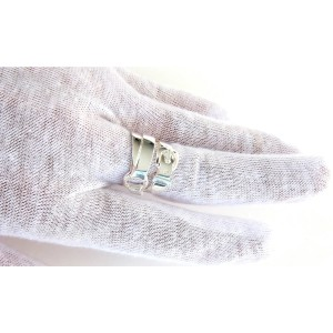 Hermes Debridee Silver Ring GM Statement Ring