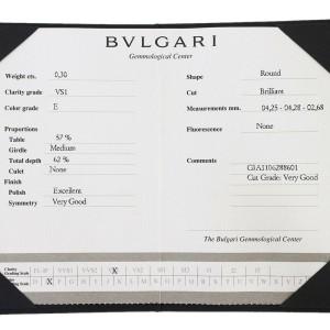 Bvlgari Platinum Solitaire Diamond Ring TNN-1665
