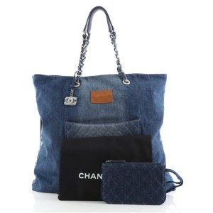 Chanel Open Shopping Tote Degrade Denim Large