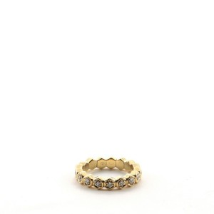 Piaget Eternity Band Ring 18K Yellow Gold and Diamonds