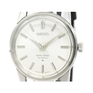 Seiko King 44-9990 Stainless Steel with White Dial 36mm Mens Watch