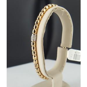 18K Rose Gold Bead and Diamond Stretch Bracelet