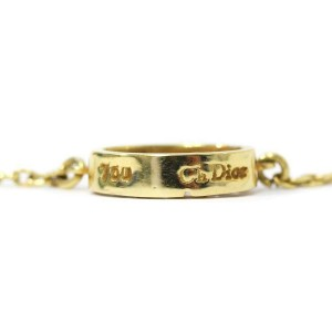 Dior 18k yellow Gold//diamond CD logo Necklace