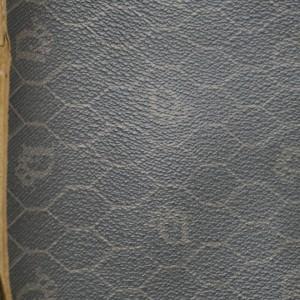 Dior 858395 Flap Monogram Oblique Signature Trotter Black Long